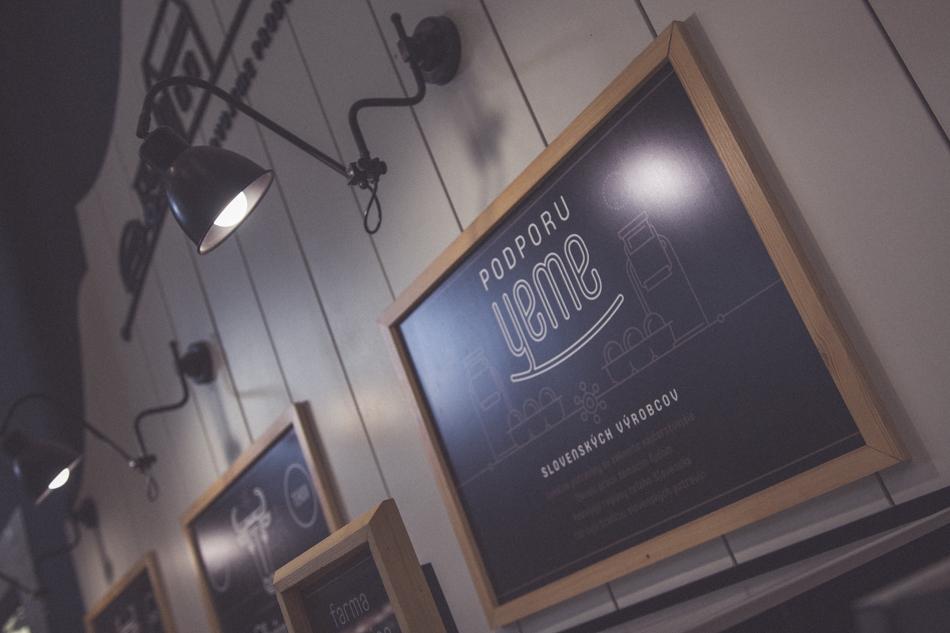 Martin Bajaník dizajn detail v obchode Yeme