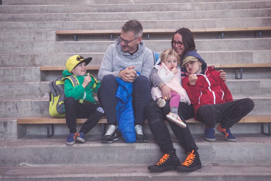 Simon Sicko s rodinou