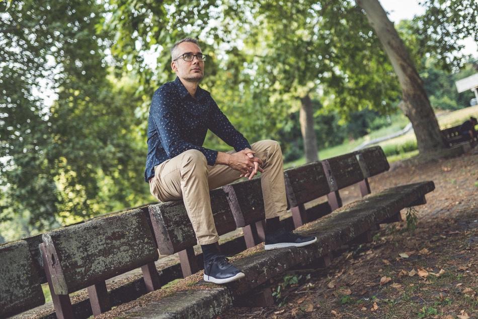 Daniel Milo v parku