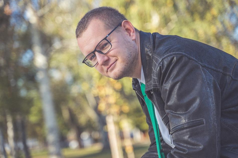 Mário Obročník v parku