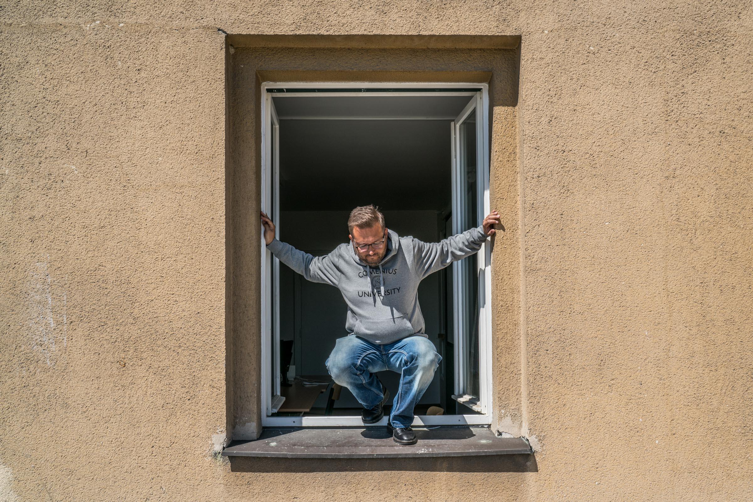 Radomír Masaryk okno UK