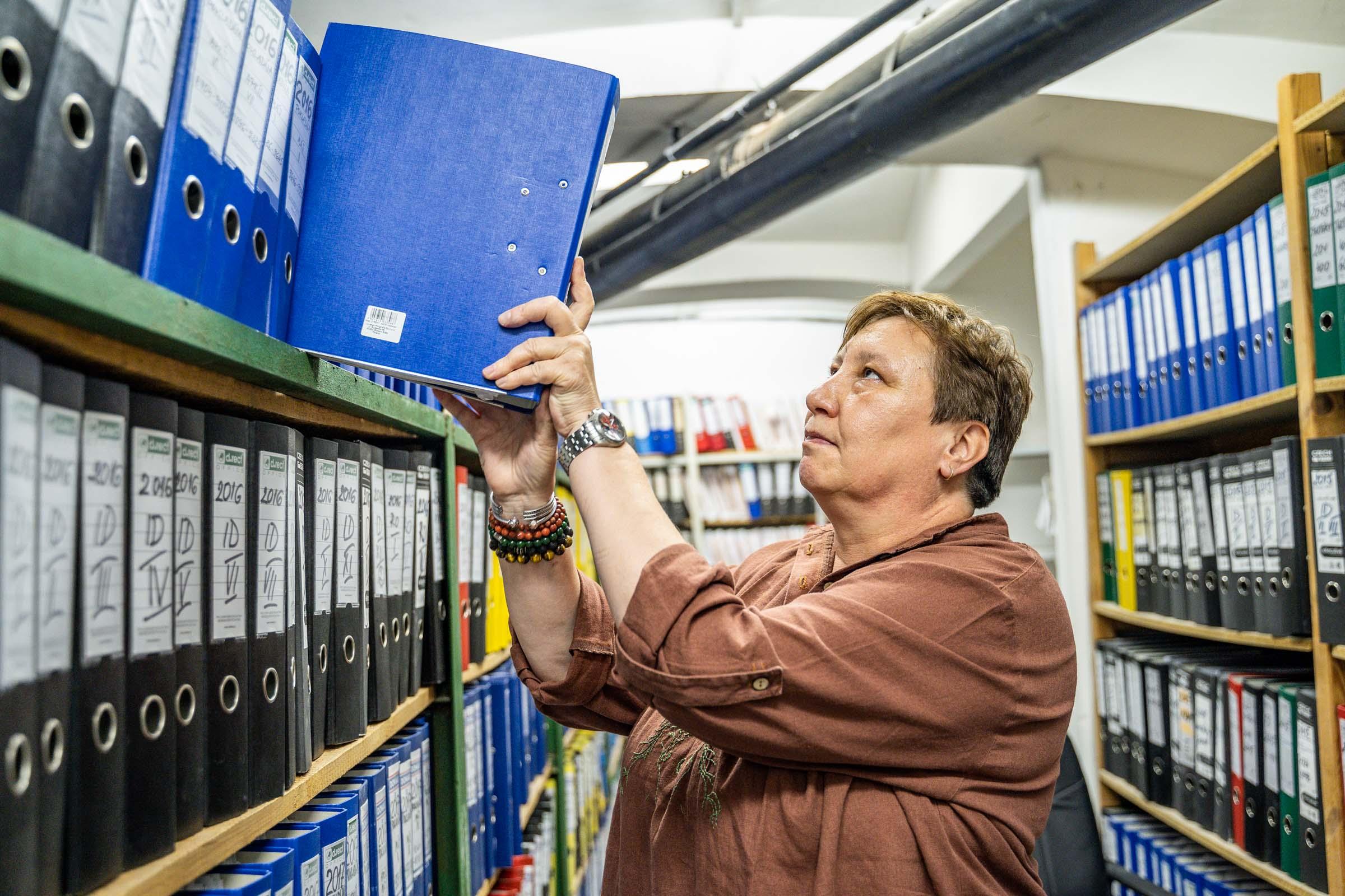 Katarína Nádaská v bratislavskom archíve